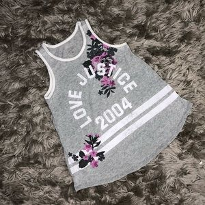 Justice Active Gray Tank Top Girls Size 10